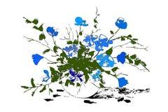 Абстрактные вазы с цветками элементы конструкции предпосылки 4 снежинки белой изолировано также вектор иллюстрации притяжки corel стоковые фото