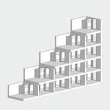 абстрактные двери 3d представляют лестницы места белым иллюстрация вектора