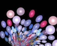 абстрактные воздушные шары иллюстрация вектора