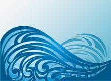 абстрактные волны вектора предпосылки Стоковое Изображение RF