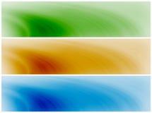 абстрактные волны знамен предпосылки иллюстрация вектора