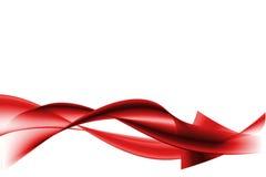абстрактные волны красного цвета Стоковая Фотография