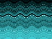 абстрактные волны моря Стоковое Изображение