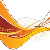 абстрактные волны померанца Стоковые Фотографии RF