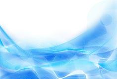 абстрактные волны сини предпосылки Стоковые Фотографии RF