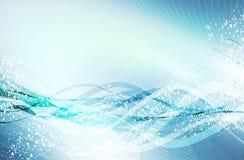 абстрактные волны сини Бесплатная Иллюстрация