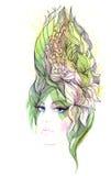 абстрактные волосы Стоковое Изображение RF