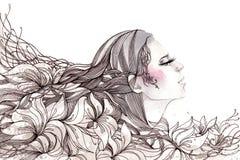 абстрактные волосы Стоковые Изображения RF