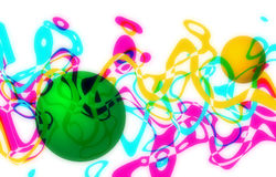 Абстрактные волнистые цвета Стоковые Фото