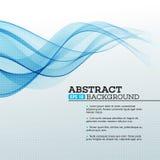 абстрактные волны сини предпосылки вектор Стоковое Фото