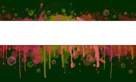 Абстрактные выплеск краски и знамя потека с космосом текста иллюстрация штока