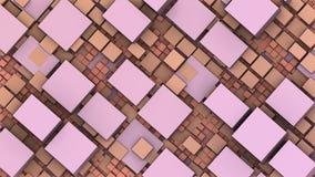абстрактные геометрические кубы 3D и прямоугольники Стоковое фото RF