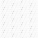 Абстрактные геометрические точки картины в линиях Текстура безшовной предпосылки серая и белая Стоковое Изображение RF