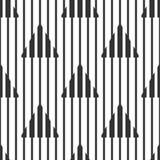 Абстрактные геометрические черно-белые линии картины, узких и широких, треугольники Безшовная предпосылка Стоковое Изображение RF