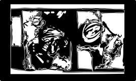 абстрактные головки Стоковое Изображение