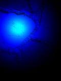 абстрактные голубые детали освещают волшебную силу Стоковая Фотография