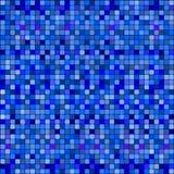 абстрактные голубые квадраты картины иллюстрация вектора