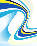 абстрактные голубые линии шаблон Стоковые Изображения RF