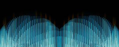 абстрактные голубые линии Стоковая Фотография RF