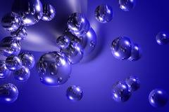 абстрактные голубые обои настольного компьютера Стоковые Фотографии RF