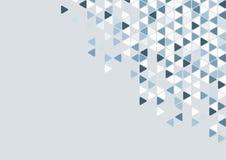Абстрактные голубые обои предпосылки картины треугольника Стоковые Фото