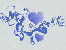 абстрактные голубые сердца Стоковое фото RF