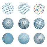 Абстрактные голубые шарики Стоковые Изображения