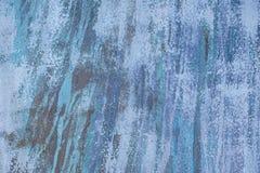 Абстрактные голубые штриховатости краски Стоковая Фотография