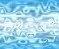 Абстрактные горизонтальные прямые, голубая волна, замотка Шаблон иллюстрации вектора со способностью к белизне изолированной верх иллюстрация вектора