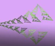 Абстрактные горы и лес отражения иллюстрация вектора