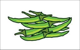 Абстрактные горячие зеленые чили бесплатная иллюстрация