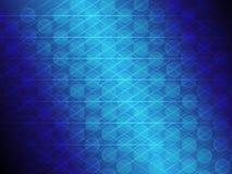 Абстрактные голубые круг градиента и линия накаляя предпосылка Стоковая Фотография