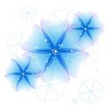 Абстрактные голубые цветки Стоковые Изображения