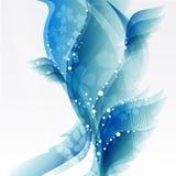 Абстрактные голубые цветки Стоковая Фотография RF