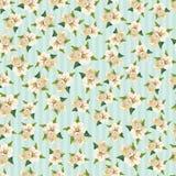 Абстрактные голубые цветки Стоковое Изображение RF