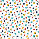 Абстрактные голубые цветки Стоковое фото RF
