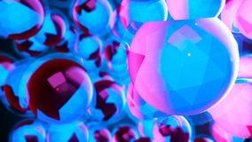 Абстрактные графики движения CGI и голубая предпосылка видеоматериал