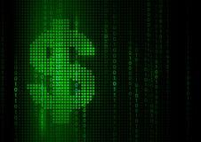абстрактные деньги предпосылки Иллюстрация вектора