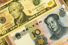 абстрактные деньги предпосылки Стоковые Фотографии RF