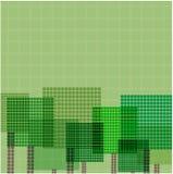 Абстрактные деревья Иллюстрация вектора