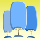 Абстрактные деревья Стоковое Фото