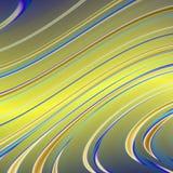 Абстрактные желтые и голубые линии Стоковая Фотография RF