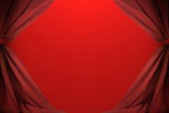 абстрактные занавесы красные Стоковая Фотография