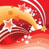 абстрактные звезды предпосылки Стоковые Фото