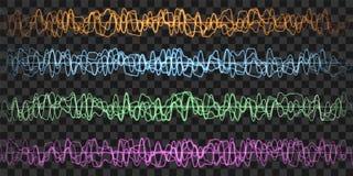 Абстрактные звуковые войны Влияние зарева r иллюстрация вектора