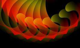 Абстрактные зеленое и оранжевый на черных обоях предпосылки стоковое фото rf
