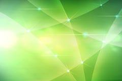 Абстрактные зеленые кривые Стоковое фото RF