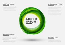 Абстрактные зеленые круги Стоковые Фото