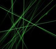 абстрактные зеленые линии черноты предпосылки Стоковые Фотографии RF