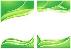 Абстрактные зеленые предпосылки Стоковое Изображение RF